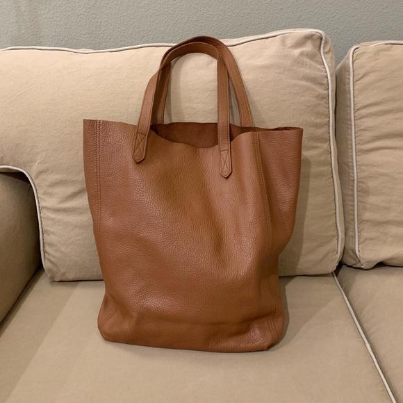 Cuyana Handbags - FINAL DAY  Cuyana Tall Leather Tote in Caramel